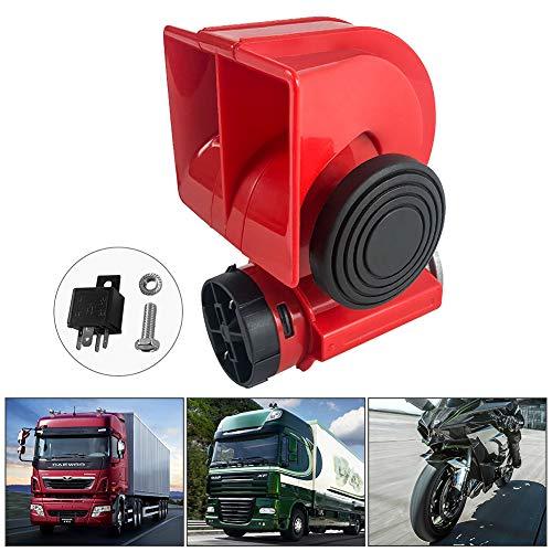 QWORK 12V 150db Bocina de aire, Car Horn súper ruidosa para automóvil con bocina eléctrica de relé automotriz, para camión, automóvil