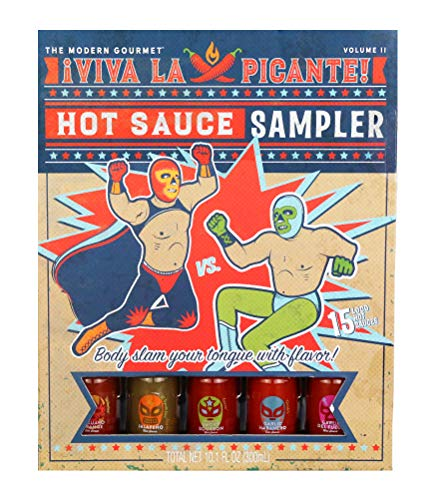 Thoughtfully Gifts, Hot Sauce Book Gift Set, 0.67 Fluid Ounces Each, Hot Sauce Sampler, Set of 15