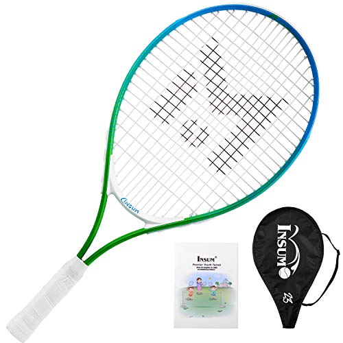 "insum Junior Tennis Racquet 23"" Beginner Kids Starter (Ages 7-8) with Shoulder Strap Cover Bag"