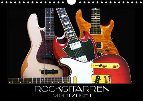 Rockgitarren im Blitzlicht (Wandkalender 2021 DIN A4 quer)