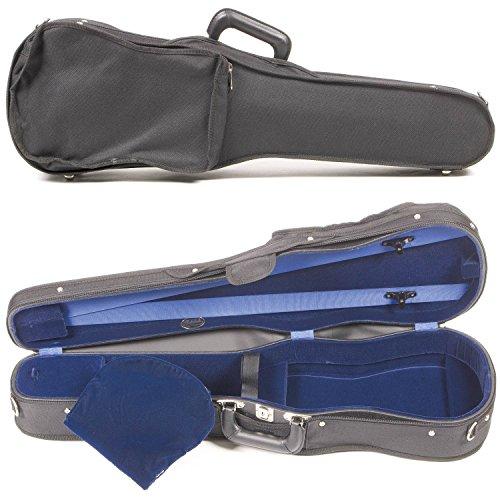 Bobelock Student 1007SV 4/4 Violin Case: Black Exterior & Blue Velvet Interior with Suspension