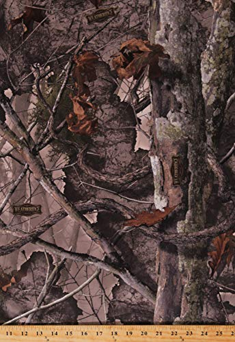 60' Boneyard Weatheridge Camouflage Camo Jersey Knit with Solid White Fleece Back Medium Weight Fabric by The Yard (A508.51)
