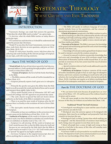 Top 3 systematic theology laminated sheet for 2020