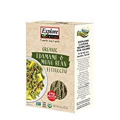USE YOUR NOODLE - Explore Cuisine Organic Edamame & Mung Bean Fettuccine is lower in carbohydrates than traditional pasta. Each serving is loaded with 24 grams of protein and 14 grams of fiber, making it a healthy alternative. AN ORIGINAL BLEND – Thi...