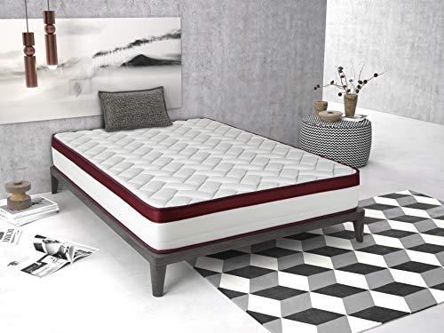 Imperial Confort Matratze Helsinki New 25, Schaumstoff HR, Weiß, Rot, 180x 150x 25