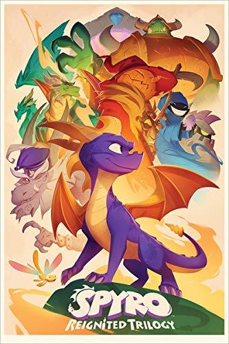 Laminiert Spyro Poster Animated Style 61 x 91,5 cm
