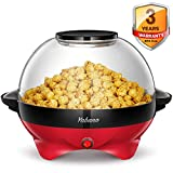 Yabano Popcorn Maker, 5L Electric Popcorn Machine for Healthy Lss Fat Popcorn,800W