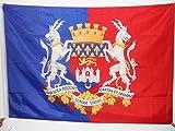 AZ FLAG Flagge Bordeaux MIT Waffen 150x90cm - Bordeaux Fahne 90 x 150 cm Scheide für Mast - flaggen Top Qualität