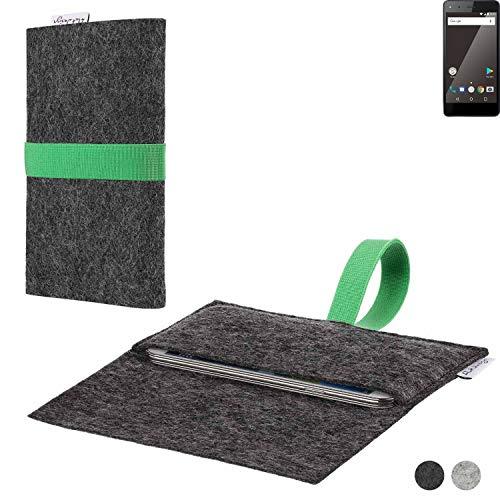 flat.design Handy Hülle Aveiro für Blaupunkt SL 01 passgenaue Filz Tasche Case Sleeve Made in Germany