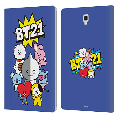 Official BT21 Line Friends Group Comics Pops Group Art Leather Book Wallet Case Cover Compatible For Galaxy Tab S4 10.5 (2018)