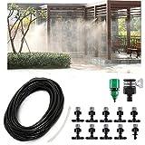 TOPWA 10m Jardin d'eau d'irrigation Micro Brumisateur kit Système de Refroidissement Arroseur Buse pour extérieur Paysage Fleur