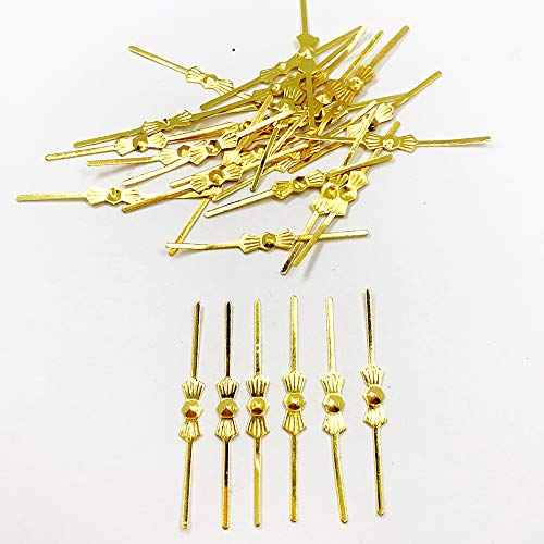 500pcs Chandelier lamp part connectors chlips bowtie pins 40mm for Fastening Crystals bead Parts Chandelier Replacements Lighting Accessories (Gold) -  DERA