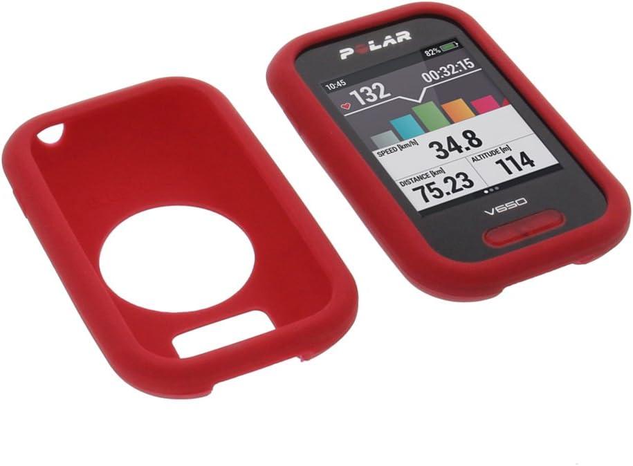 foto-kontor Funda para Polar V650 Protectora Silicona Carcasa protección roja