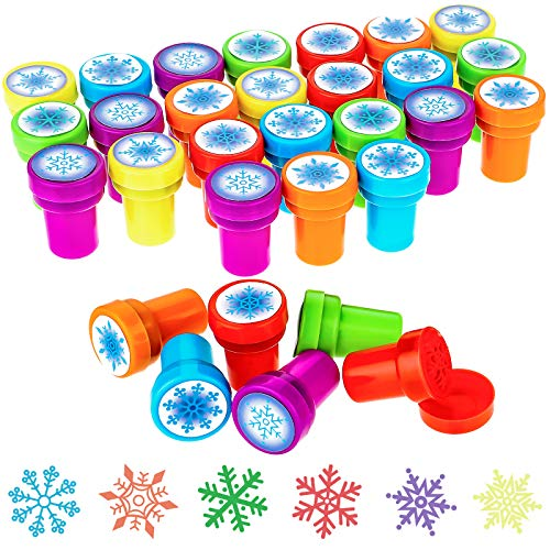Willbond 36 Pieces Winter Stamps Snowflake Stamps