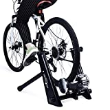 Indoor Fluid Bike Trainer, Stationary Exercise Trainer Stand, Fit 26-29' Mountain & Road Bicycle Support 350lbs Portable Cycling Stand with Sweat Guard (26-29' Fluid Bike Trainer + Sweat Guard)