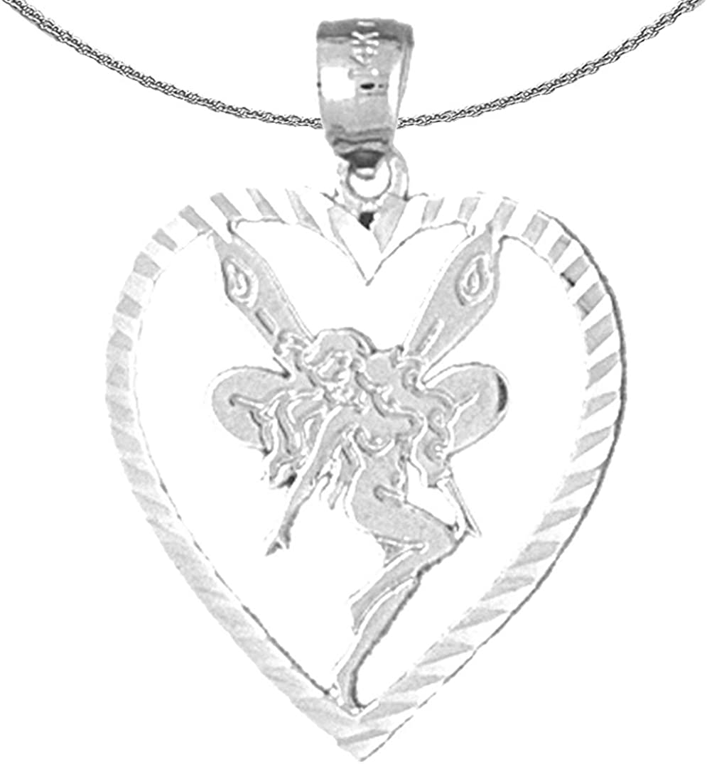 Albuquerque Mall Jewels Obsession Selling and selling Gold Heart With 14K White Necklace Fairy