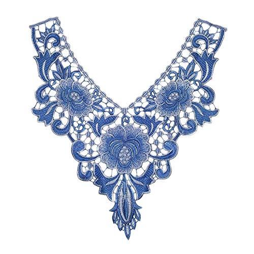 Biggroup Dames Dames Etnisch Elegant Naaien Applique Hals Kraag DIY T-Shirt Blouse Jurk Sweater Kleding Nep Kraag