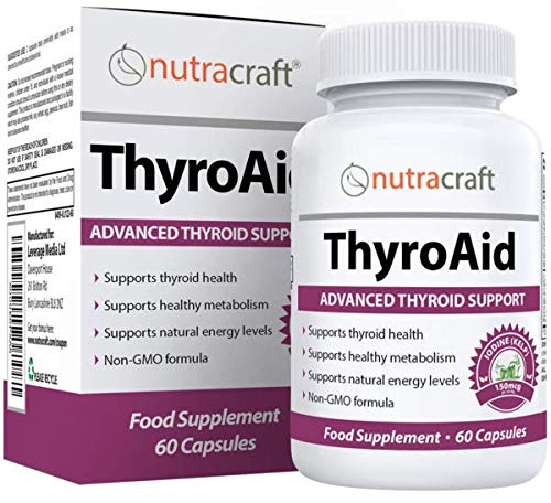 Thyroid Support Supplement - Advanced Natural Herbal Formula to Support Healthy Metabolism, Promote Weight Loss & Increase Energy with Kelp, Iodine, Selenium, B-12, Copper & More - 60 Capsules