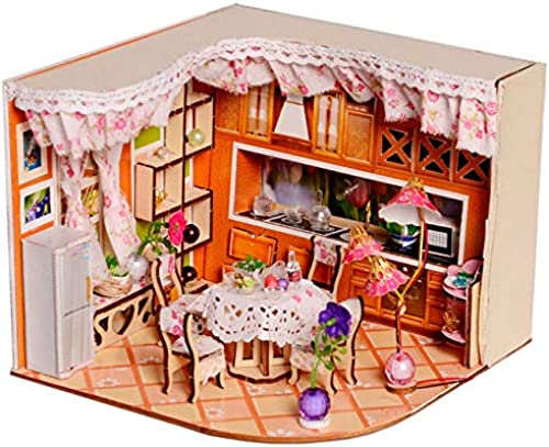 Global Brands Online Merry Puzzle Sweet Home Habitat Zimmer DIY Dollhouse Satz Mit LED Light Holz Dekoration