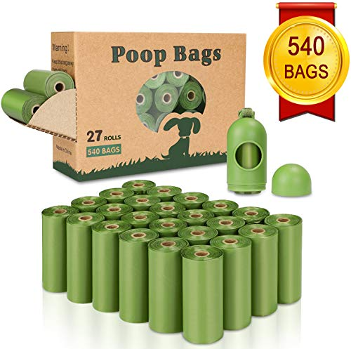 Yingdelai Dog Poop Bag 540 Counts, Biodegradable Dog Waste Bags with 1 Dispenser, Eco-Friendly Leak-Proof Pet Poop Bags for Doggy | Scented