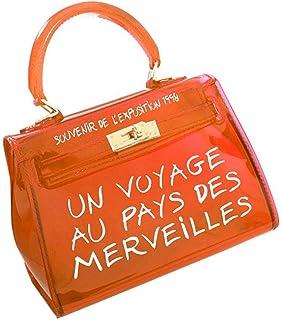 0283983518 Sac Transparent Femme Sac à Main - Sac Bandoulière Femmes Petit Sac a Main  Carré Couleur