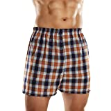 Fruit of the Loom mens Tag-free Boxer Shorts Underwear, Woven - Assorted Colors, Medium US