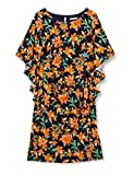 Gina Bacconi Women's Mae Dress with Cape Sleeve Vestido de cctel, Azul Marino/Naranja, 38 para Mujer