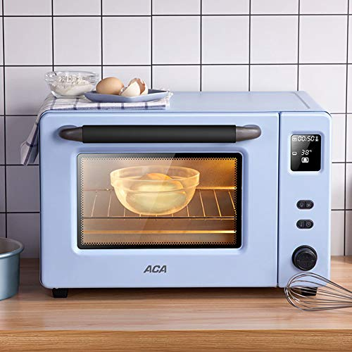 Kompakter Toaster-Aufsatzofen XGG 40L, 360 ° drehbare Gabel, einschließlich Backblech, Grill und Grill. Semmelbrösel, 2000W, Blau