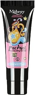 Mobray Poly Gel Extend Builder Polygel Finger Nail Extension UV LED Acrylic Builder Gel (#1 Soft Pink_15ML)