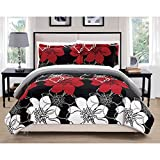 Chic Home Chase Black 3-Piece Quilt Set King 3 Piece