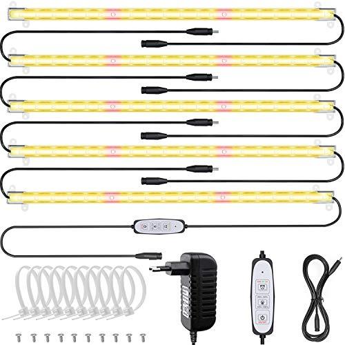 Relassy Pflanzenlampe LED, Pflanzenlicht Vollspektrum Led Grow Lampe mit Auto Timer 12/6/3H, Pflanzen LED Streifen 4 Dimmbare Level Grow light Pflanzenleuchte für Zimmerpflanzen Hydroponic (90 LEDs)