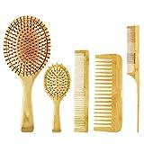 KJDSE - Juego de brochas de pelo de bambú para el cabello, para...
