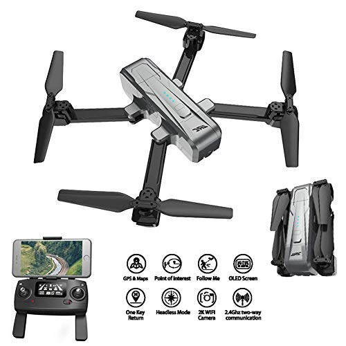 B&H-ERX GPS RC Drone,Foldable Drone with 1080P 2K 5G WiFi HD Camera Gimbal Quadcopter with Bright LED Search Light RTF for Adult,Pro,Amateur,Kids,Beginner-Best Gift