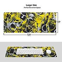 黄色な丸 マウスパッド キーボードパッド 滑らかマウスパッド ゲーミングパッド 大型 オフィス 家庭用