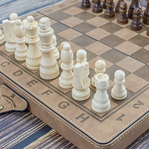 Leather Surface Chess Set