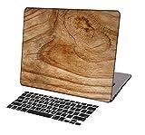 KSK KAISHEK Laptop Case for MacBook Pro 16 inch(2019 Release,Touch Bar) Model A2141,Ultra Slim Light Hard Shell Keyboard Cover,Wood Grain