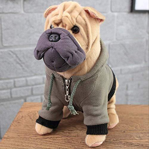 N\A Simulación Perros Peluche Sharpei Pug Chihuahua/Labrador/Bulldog Cachorro Mascota Peluche Juguete Niños Cumpleaños 30cm e