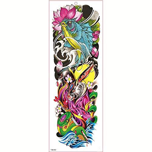 Impermeable Big Arm Sleeve Tattoo Tattoo Sticker Tiger Butterfly Man Full Flower Tattoo Body