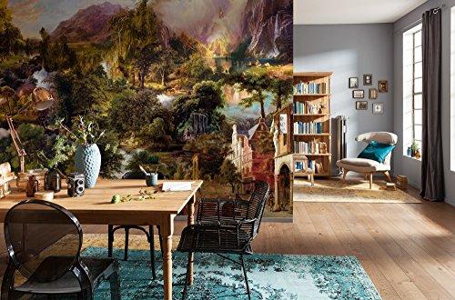 Komar Vlies Fototapete HERITAGE | 368 x 248 cm | Tapete, Wand, Dekoration, Wandbelag, Wandbild, Wanddeko, Landschaft | XXL4-039
