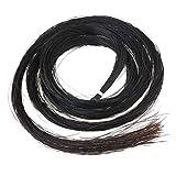 BQLZR Black 32 inch Hank Mongolian Horse Hair Violin Bow Hair Replacement