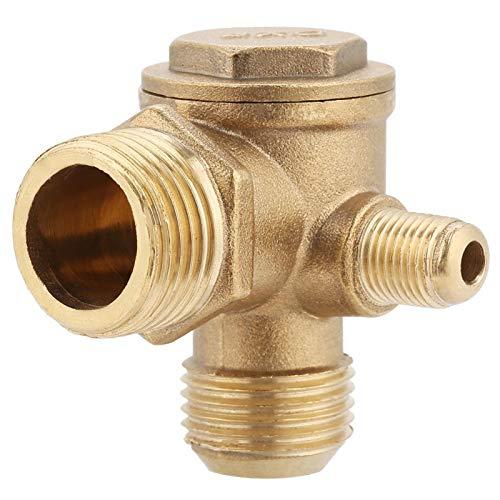 Akozon Messing Rückschlagventil, Außengewinde 90 Grad Messing Luftkompressor Rückschlagventil Ersatzteile 20 * 19 * 10mm