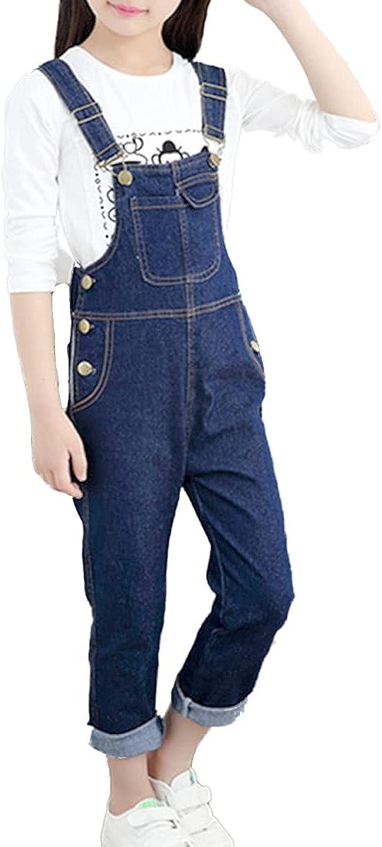 FLOWERKIDS Surprise price Girls Denim Bib Overalls Adjustable Ranking TOP14 Straps Cotton Sus