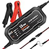 WOHOOH Car Battery Charger - Professional Car Maintainer,1.5A 12V Fully Automatic Charging AGM,GEL,SLA...