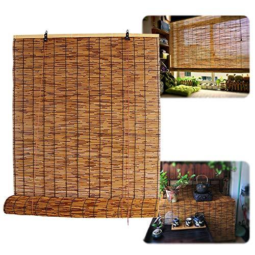 L-DREAM Bambusrollo Bambus Rollo In Natur - Für Fenster Und Türen - Innen Und Außen, Cool, Balkonsichtschutz, Garten, Terrasse Deko, Rollos Holzrollo Für Küche Fenster