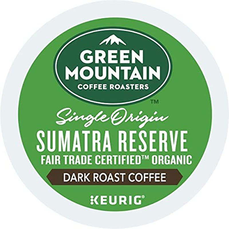 Green Mountain Fair Trade Organic Sumatran Reserve Dark Roast 4 Boxes Of 24 K Cups