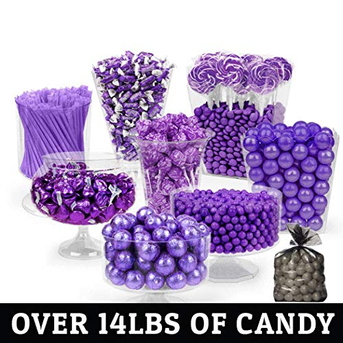 Purple Candy Buffet Supplies (Approx 14 lbs) Purple Candy Table Supplies