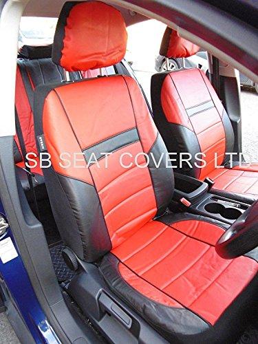 Adecuado para Skoda Octavia coche, fundas de asiento, PVC ROSSINI, negro y rojo 58.95