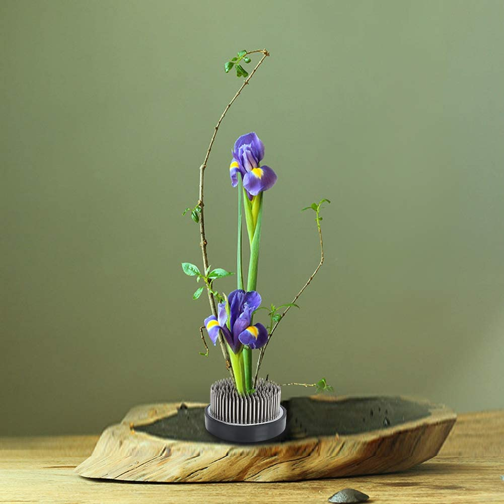 Durable Round Max 70% OFF Kenzan Max 41% OFF Flower Holder Stainless Home ste for