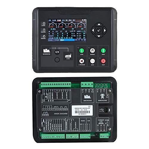 Generator-Bedienfeld, 4,3-Zoll-LCD-Display-Generatorregler Diesel-/Benzin-/Aggregatparameter-Monitor, Generatorregler
