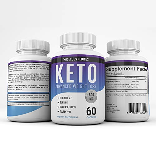Keto Advanced Weight Loss - Exogenous Ketones - 180 Capsules - 90 Day Supply - 2021 Blend